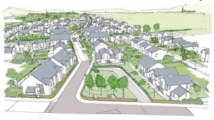 A sketch showing the plans for the latest phase of the Dykes of Gray housing development. Story for 6/9/2018 by Nadia Vidinova Pic supplied by Springfield Homes.